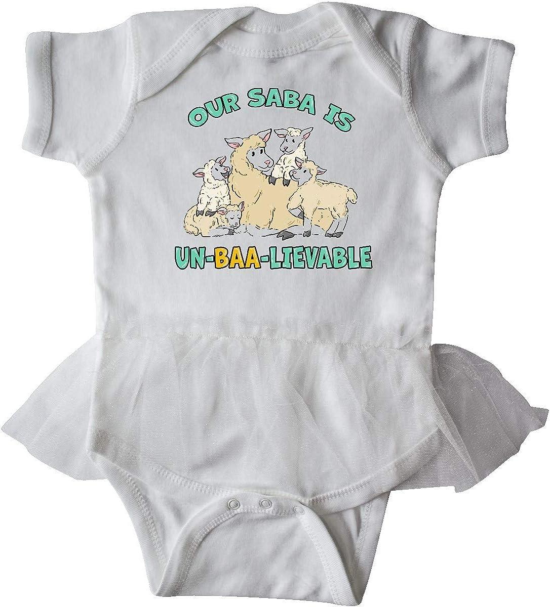 inktastic Our Saba is Un-BAA-lievable with Cute Sheep Infant Tutu Bodysuit