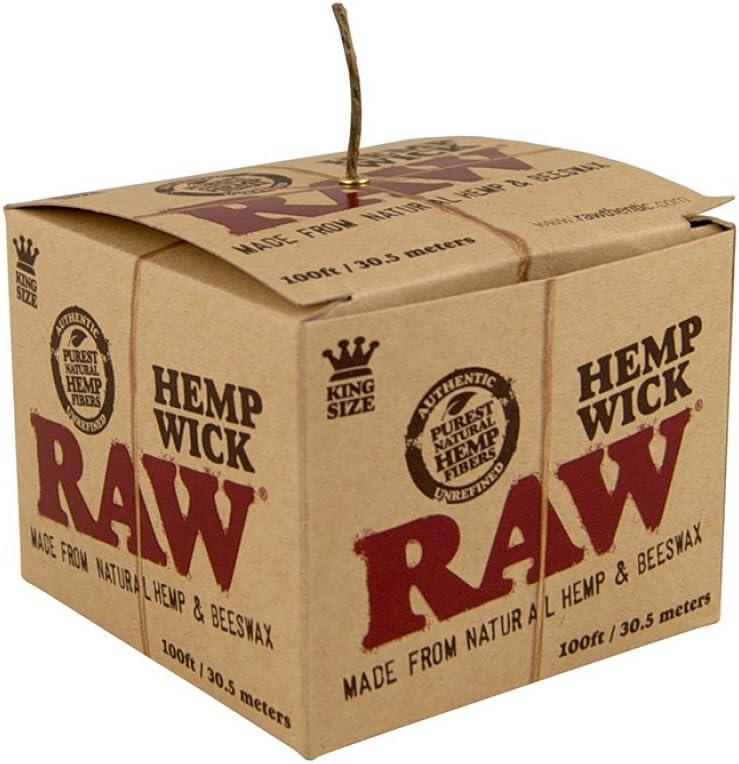 RAW Natural Unbleached Hemp & Beeswax Hemp Wick 100 feet Spool Roll