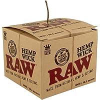 RAW Natural Unbleached Hemp & Beeswax Hemp Wick 100 feet Spool Roll by RAW