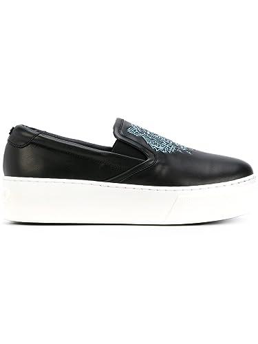 00f0408d1ce Kenzo Femme F762sl490l5099 Noir Cuir Chaussures De Skate  Amazon.fr ...