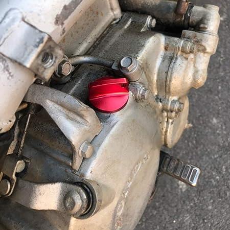 Benkeg Tap/ón de llenado de aceite,Tap/ón de llenado de aceite Tap/ón CNC Aluminio Racing Motor Reemplazo para Honda CBR 250RR 600RR 1000RR CR CRF 125R 150R 250R 450R Reemplazo para Yamaha Suzuki Kawasak