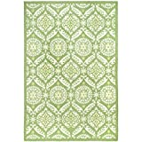Cheap Safavieh Chelsea Collection HK356B Hand-Hooked Green and Beige Premium Wool Area Rug (6′ x 9′)