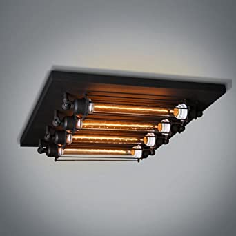 American Loft Metall Roumlhren Wohnzimmer Deckenleuchte Retro Industrie Stil 4nbsp