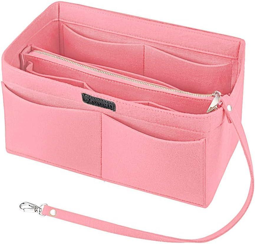 Sac de Rangement Int/érieur Bag in Bag pour Femmes avec Sac /à Fermeture /éclaire et Porte-cl/és Ropch Organisateur de Sac /à Main en Feutre Beige, XL