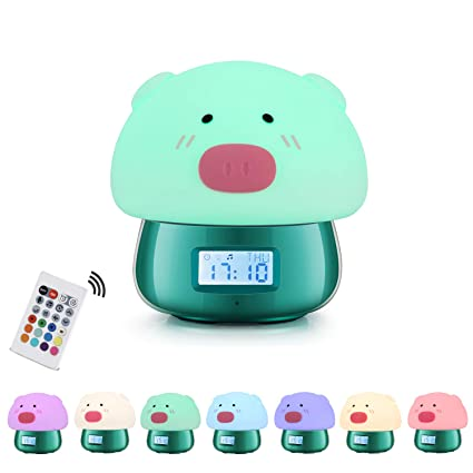TekHome Despertador Infantil Niño, Reloj Despertador Digital, Wake Up Light Sobremesa con Luz Natural