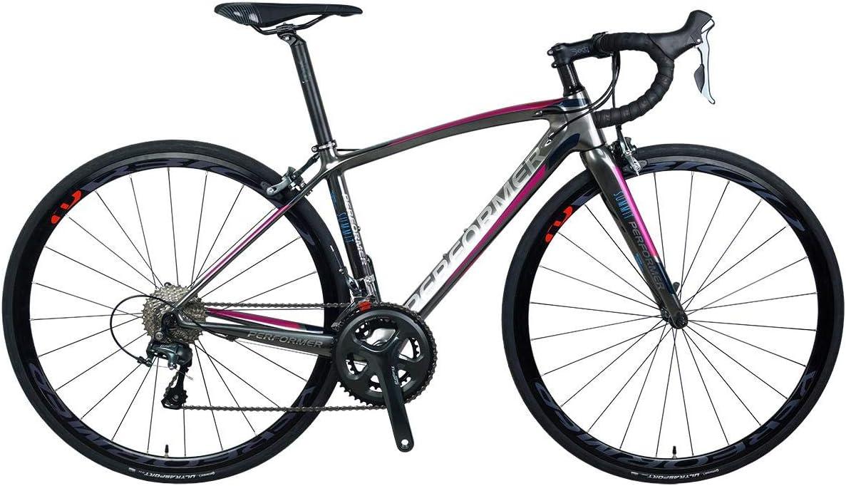 *Pro-Performer プロパフォーマー*〈Summit One〉700C ロード バイク 全カーボン Shimano 105 22speed Road Bike 光沢銀