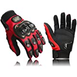 COOLSKY 碳纤维运动自行车摩托车赛车全手指手套(3 种颜色)