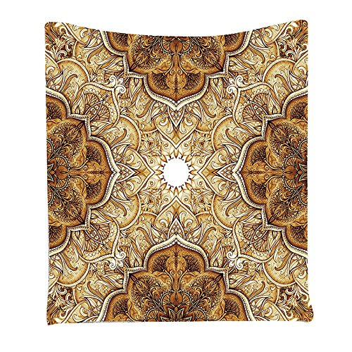 TOOGOO(R) Vintage Style Leaf Pattern Classic Islamic Architecture Decorating Folk Art, Bedroom Living Room Dorm Wall Hanging Tapestry, Brown