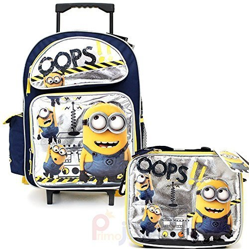Despicable Me 2 - 16'' Rolling Backpack & Lunch Box _ BRAND NEW - Licensed Product by AI