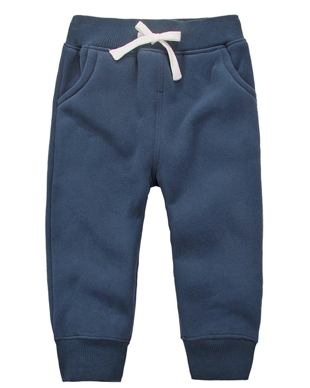 DELEY Unisex Bebé Niño Niña Pantalones Algodón Caliente Elástico Cintura Niños Invierno Pantalones Jogging Pants 1-5Años: Amazon.es: Ropa y accesorios