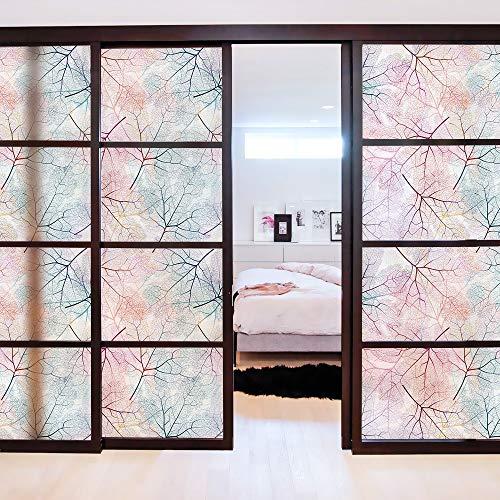 Pechalar - 45/60/90x200cm 17.7/23.6/35.4x78.7in Decorative Stained Glass Frosted Window Film Static Window Sticker Glass Film Privacy