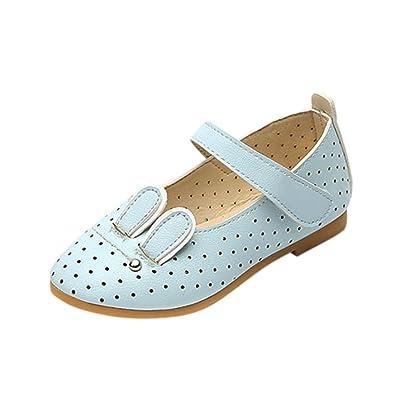 Voberry® Bébé Enfants Filles Mary Jane Chaussure Princesse Mode Sneaker enfant Filles Lapin Occasionnel Simple Cuir Chaussures Princesse