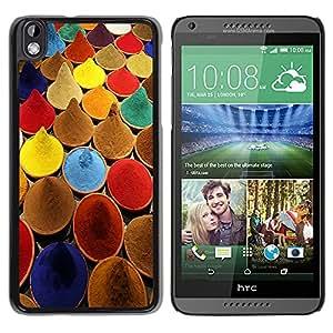 Paccase / SLIM PC / Aliminium Casa Carcasa Funda Case Cover para - Spices India Cuisine Colors Paint Market - HTC DESIRE 816