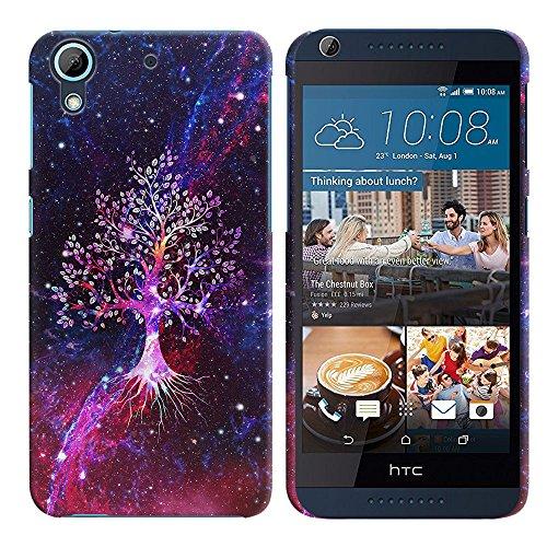 FINCIBO HTC Desire 626 626S Case, Back Cover Hard Plastic Protector Case Stylish Design For HTC Desire 626 626S - Galaxy Tree