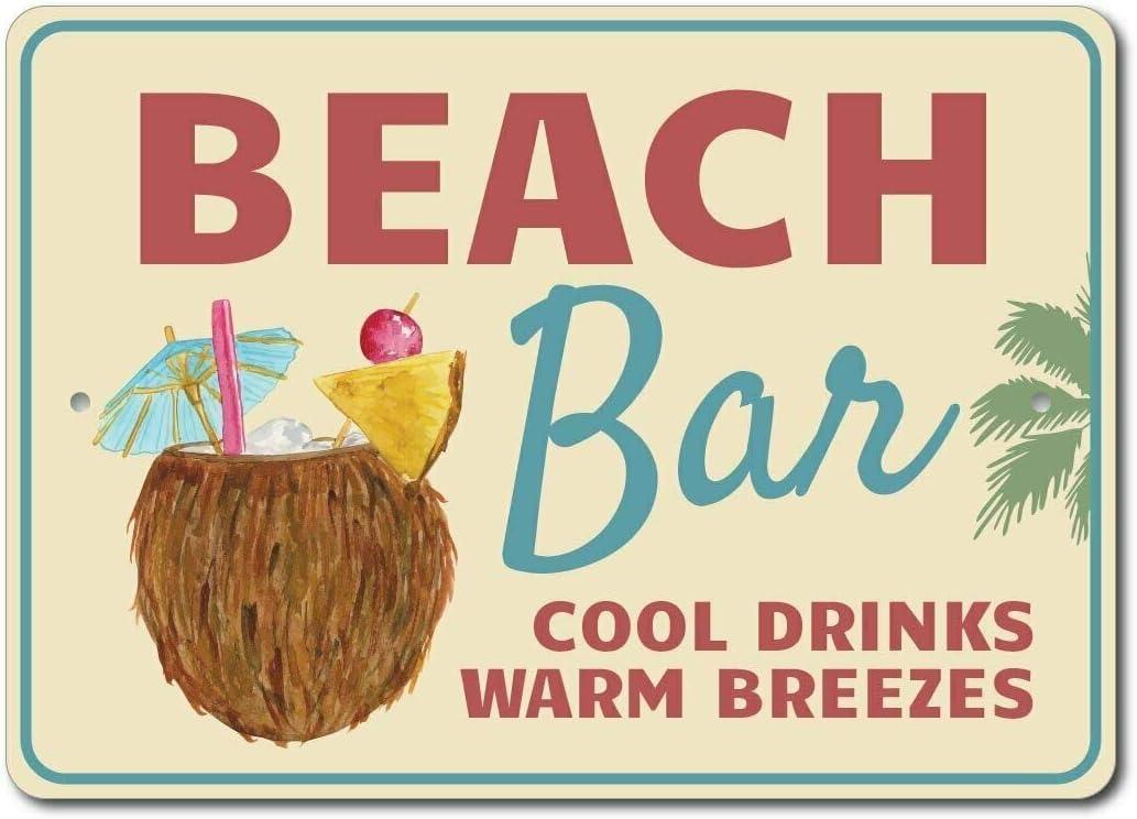 HNNT Señal de cóctel de Playa para decoración de Bar de Playa ...