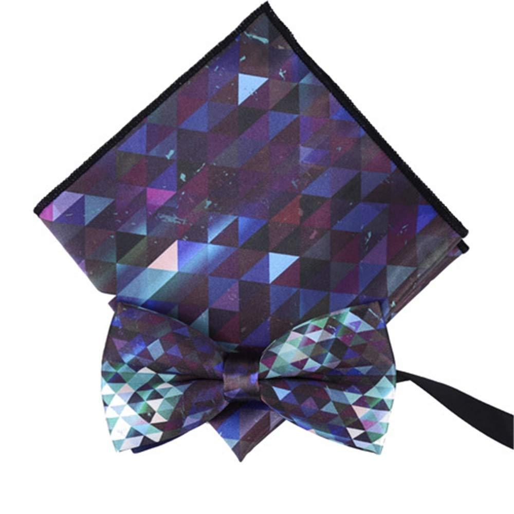 Color : Green Dig Dog Bone Mens Business Dress Blue Pocket Towel Bow Tie Printed Handkerchief