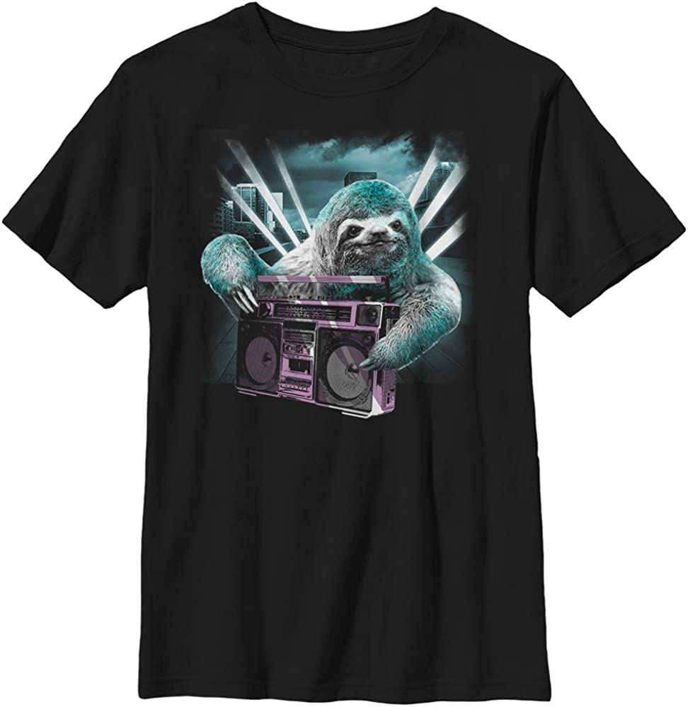 Fifth Sun Boys Little Boys Sloth Boombox Graphic T-Shirt