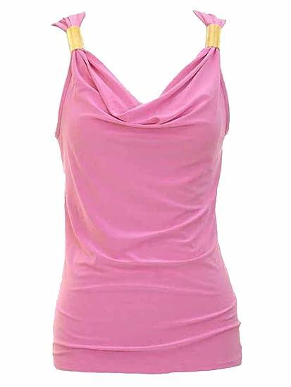 Jon   Anna Sleeveless Tank Top Blouse with Gold Detail at Amazon Women s  Clothing store