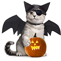 Idepet Hund katt halloween kostym fladdermus vingar och fladdermöss, svart cool valp kattungar svart fladdermus…