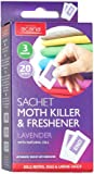 Pack of 20 Acana Moth Killer & Freshener Sachets with Lavender Fragrance
