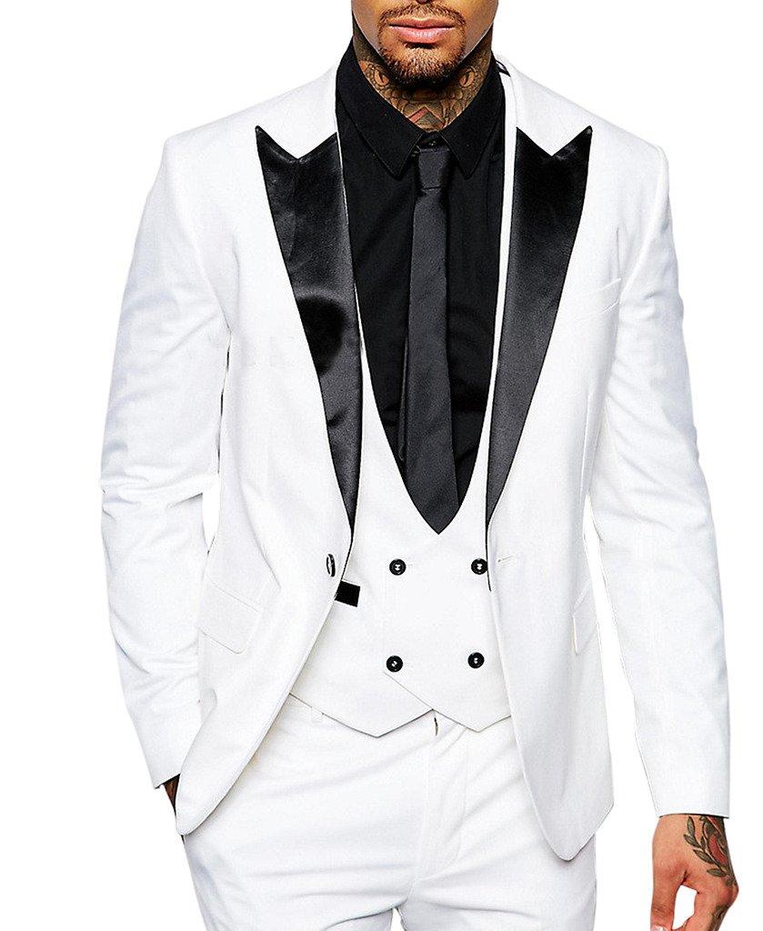 Suit Me Herren Anzug Tuxedos Smoking Suits Anzuege 3-Teilig Sakko ...
