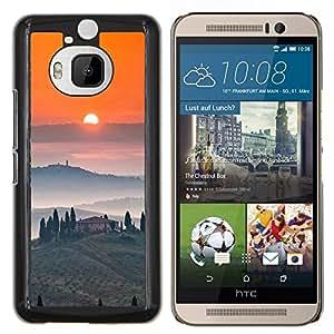 YiPhone /// Prima de resorte delgada de la cubierta del caso de Shell Armor - Vino Tosca Paisaje Amanecer - HTC One M9Plus M9+ M9 Plus