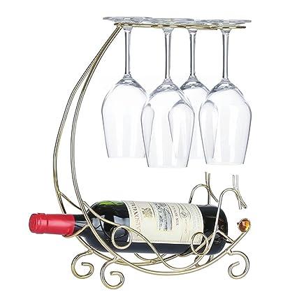 Europea botellero para botellas de vino de color rojo vino vidrio marco