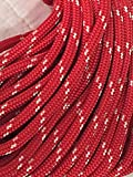"3/8"" Double Braid/Yacht Braid Premium Polyester Halyard Rigging Line, Red with white tracers"