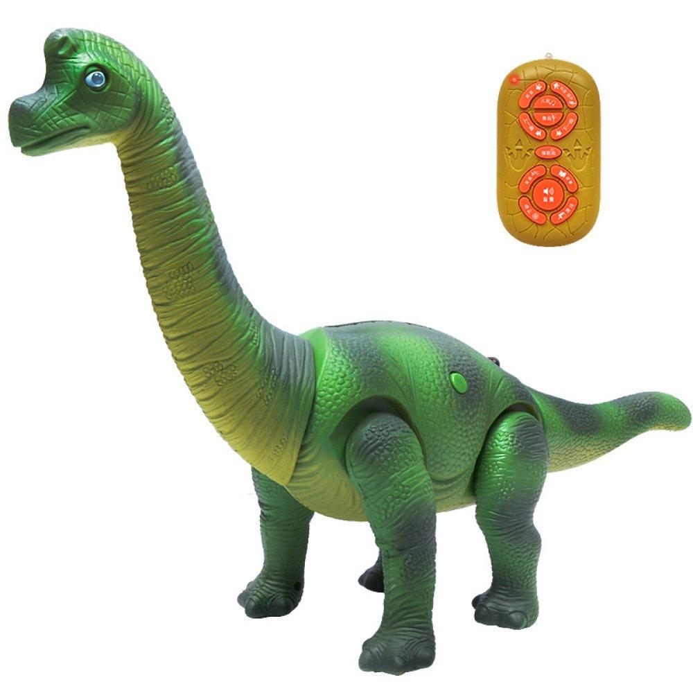 SEJNGF Control Remoto para Niños Modelo De Dinosaurio Simulador Eléctrico De Juguete Dinosaurio Multifuncional,Green
