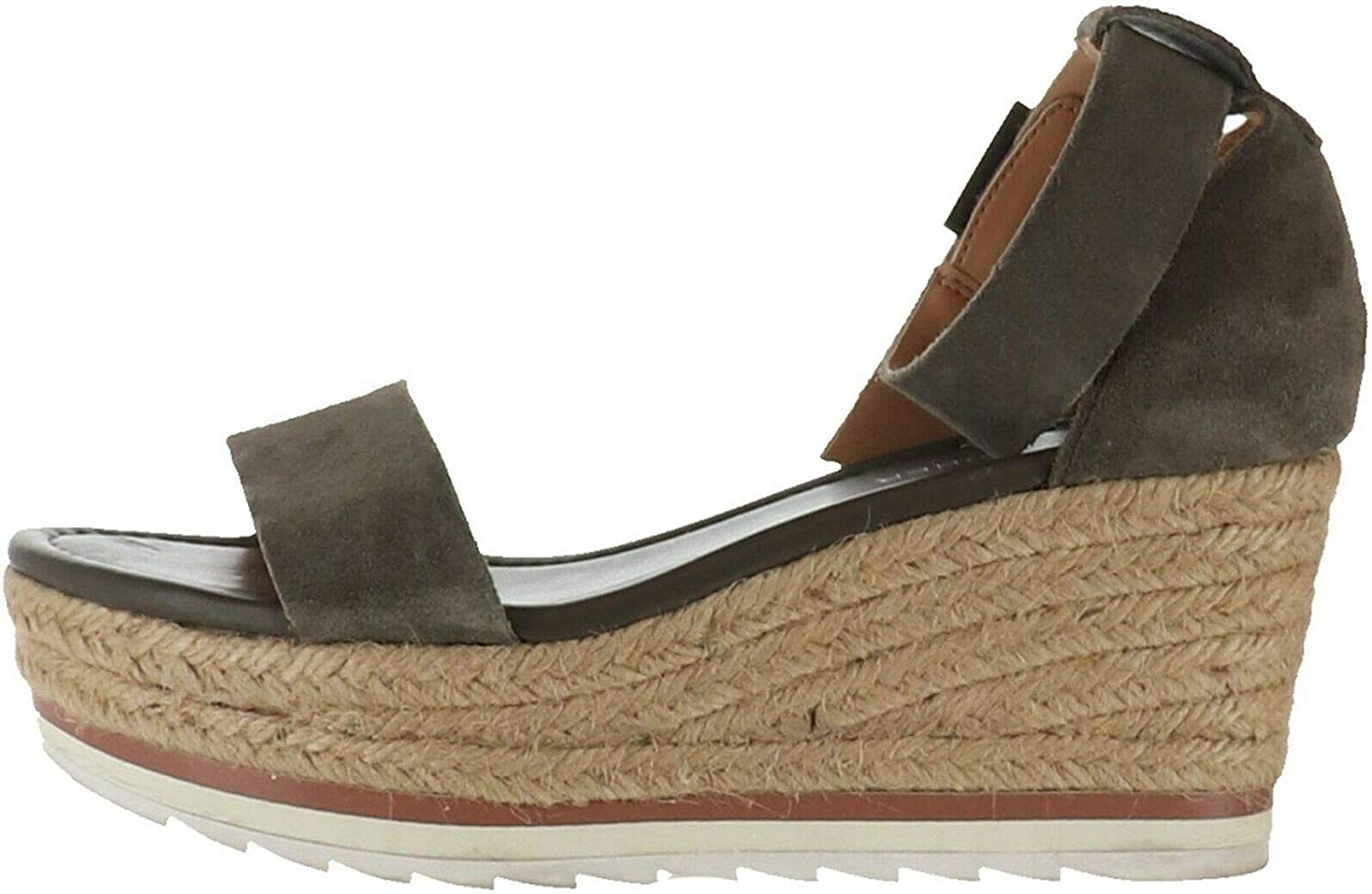 Marc Fisher Leather Suede Espadrille Wedges Zako A352049