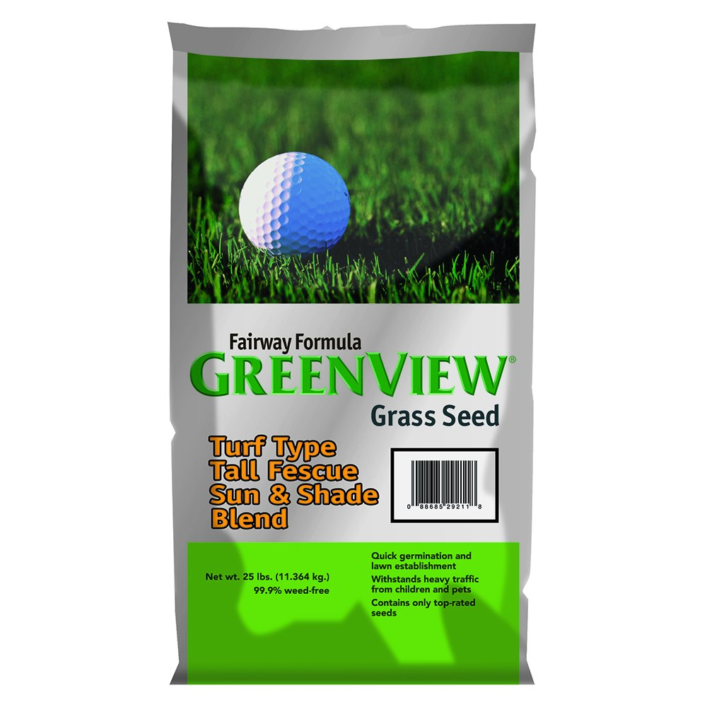 GreenView Fairway Formula Grass Seed Turf Type Tall Fescue Sun & Shade Blend, 25 lb Bag