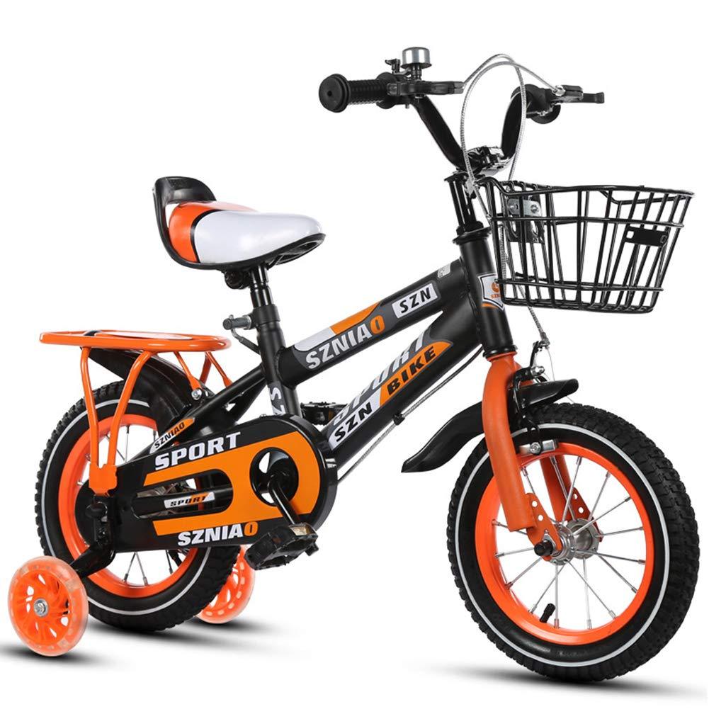 LIWORD Bicicleta para Niños con Asiento Trasero, Rueda Auxiliar, Frenos Dobles Delanteros Y Traseros,Red: Amazon.es: Deportes y aire libre