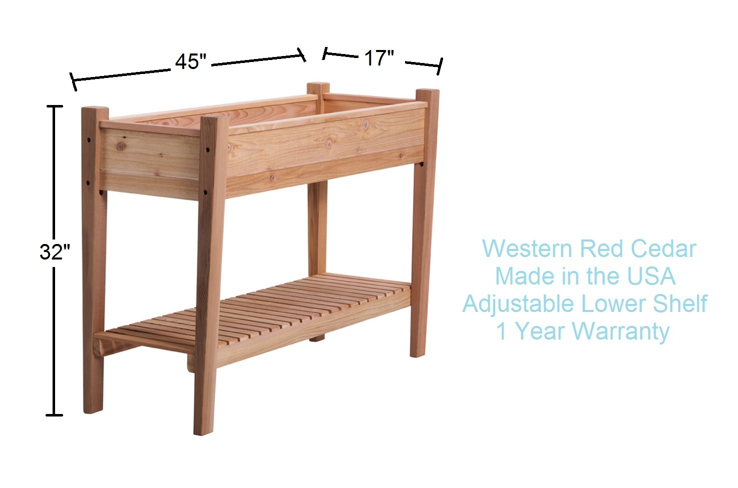 Phat Tommy Patio & Garden Elevated Cedar Planter Box – For Backyard & Outdoor Living, Made in the USA by Phat Tommy