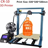 Luxnwatts Upgrade Creality 3D Printer CR-10 10S S5 Filament Monitor With Dual Z Lead Screws Resume Print When Power Off 500x500x500mm (Blue)