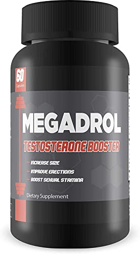 Megadrol Testosterone Booster-New Best Selling Performance Enhancer- Explosive Workouts- Powerful Thermogenic- Increase Natural Test Levels- Boost Stamina