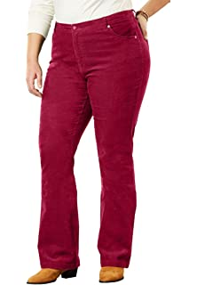 a95731e2cd6 Woman Within Plus Size Stretch Corduroy Bootcut Jean at Amazon ...