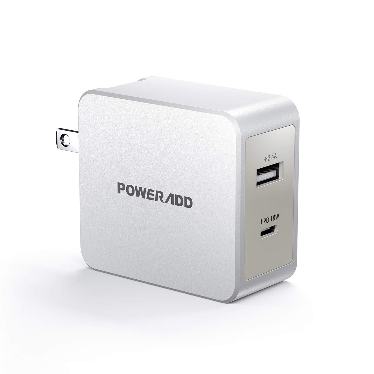 POWERADD USB C Wall Charger 30W Dual Port Type C