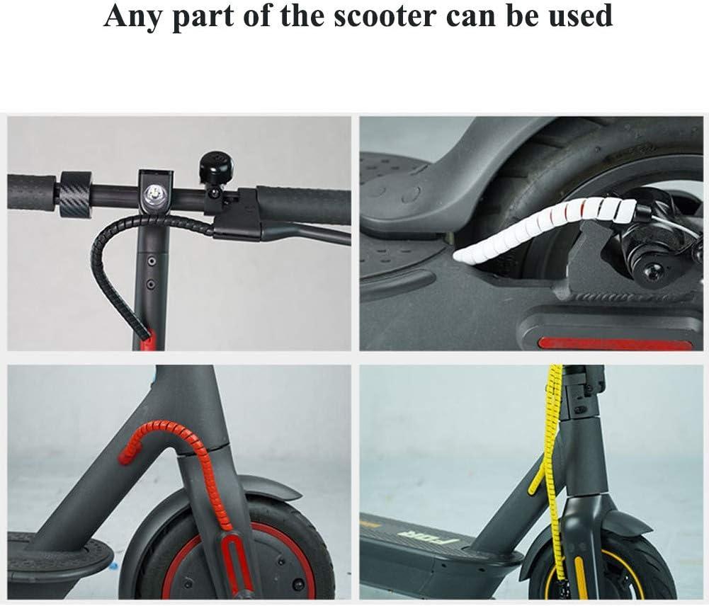 Balight Envoltura de Alambre en Espiral Recta Tubo Espiral Cable ign/ífugo Cable de Embalaje Colorido Mangas Tubo de enrollamiento para Scooter M365 5 Colores