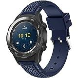 OverDose La nueva manera se divierte la venda de la correa de la pulsera del silicón para el reloj 2 de Huawei (Azul, 21.5mm)
