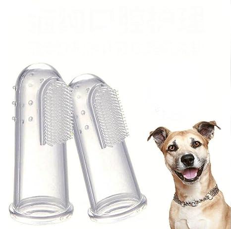 B.cweat 6 cepillos de dientes para mascotas, limpiador de dientes para perros,