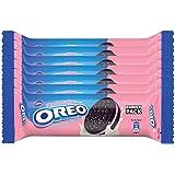 Oreo Cadbury Strawberry Cream Biscuit, 120g (Pack of 7)
