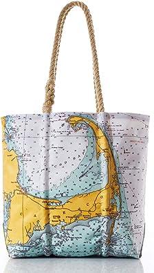 Nautical Print Reversible Tote
