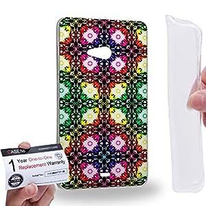 Case88 [Microsoft Lumia 540] Gel TPU Carcasa/Funda & Tarjeta de garantía - Art Fashion Visual Art Effect 31 Art1047