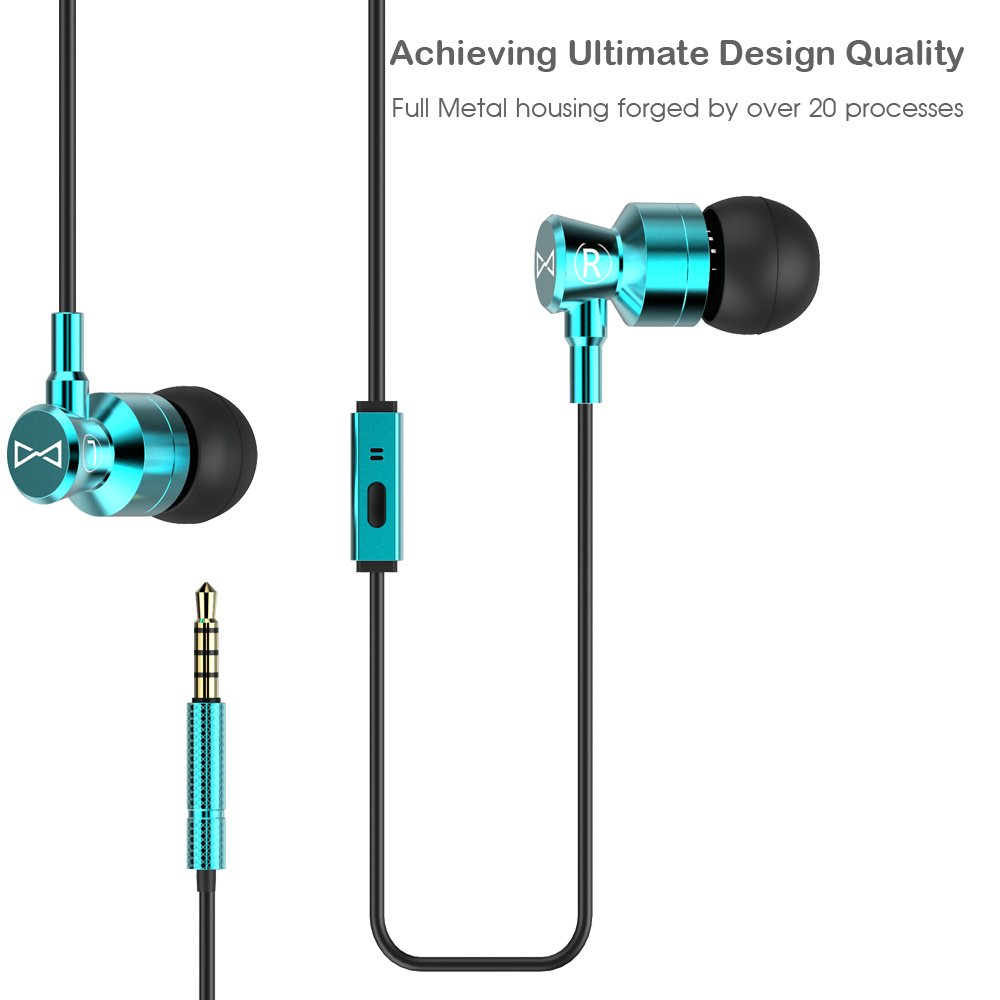 Galaxy Mic Wiring Diagram Marsno M1 Wired Metal In Ear Headphones Noise Isolating Stereo Bass Earphones With Micdynamic Drivers Earbuds Provide Crystal Clear