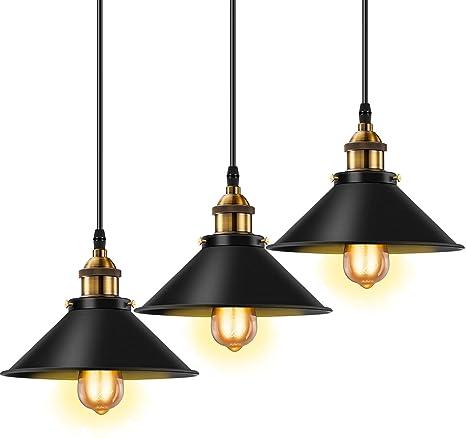 Amazon.com: Licperron - Lámpara colgante industrial E26 E27 ...