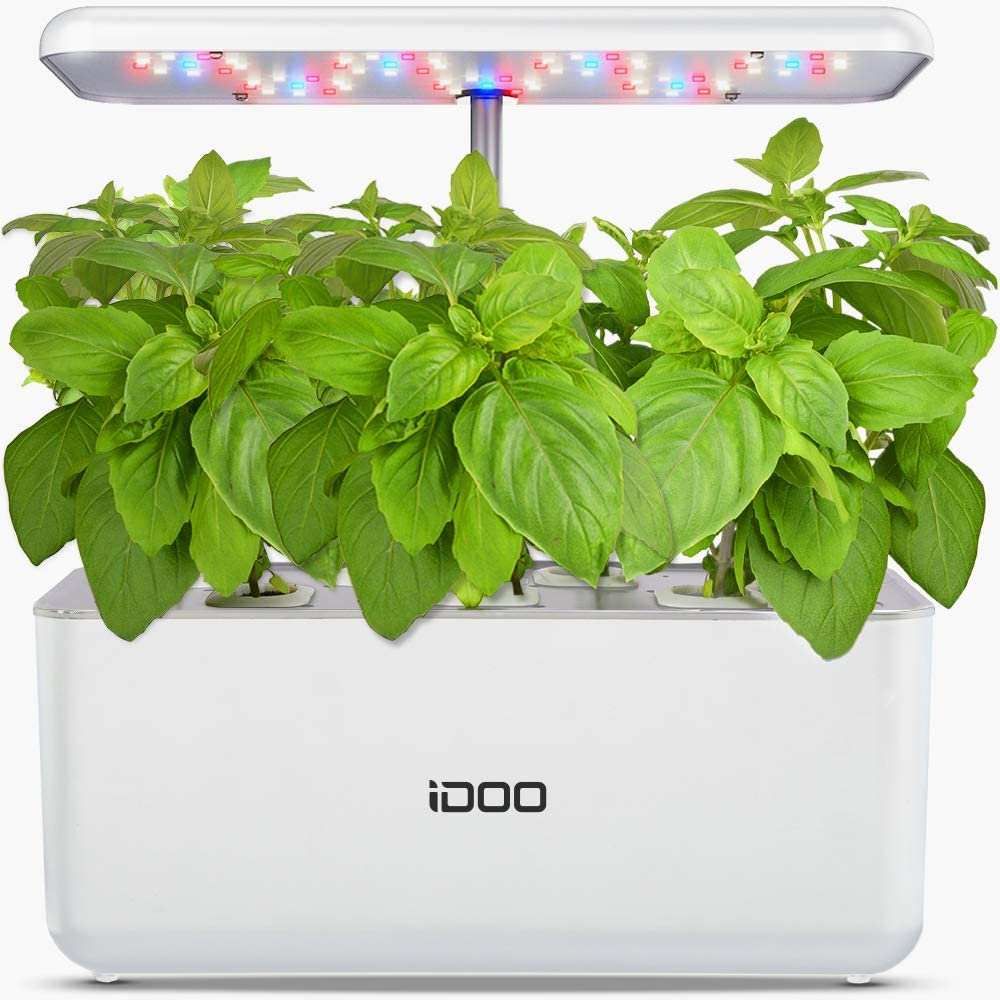Hydroponics Growing System, Indoor Garden Starter Kit with LED Grow Light, Smart Garden Planter for Home Kitchen, Automatic Timer Germination Kit, Height Adjustable (7 Pods)
