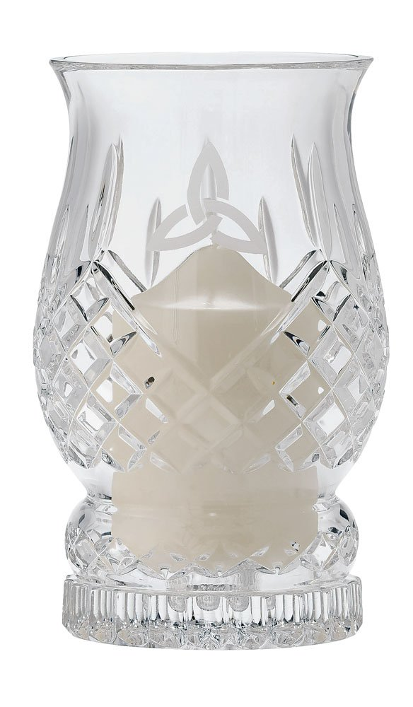 Galway Trinity Knot Giftware Pillar Hurricane Lamp by Galway