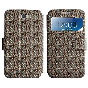 LEOCASE linda caída Funda Carcasa Cuero Tapa Case Para Samsung Galaxy Note 2 N7100 No.1004784