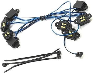 Traxxas 8026X Kit de luces LED Rock, TRX-4 (Req #8028 y #8018, #8072 o #8080)