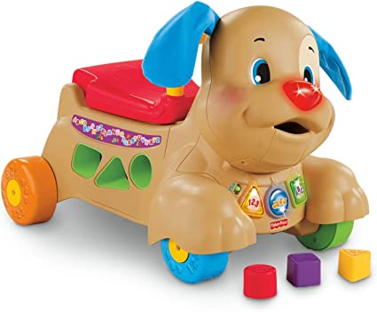 Amazon Com Fisher Price Laugh Learn Stride To Ride Puppy Toys Games